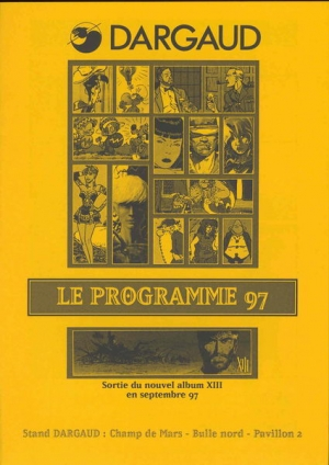 PROGRAMME STAND DARGAUD ANGOULEME 97