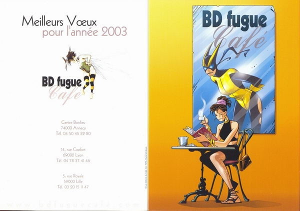 VOEUX 2003 BD FUGUE CAFE
